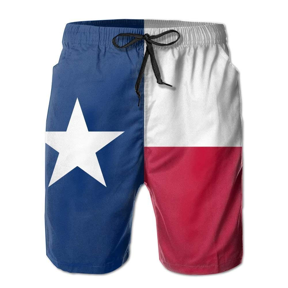 DDYJ Texas Flag Boardshorts Mens Swimtrunks Fashion Beach Shorts Casual Shorts Swim Trunks
