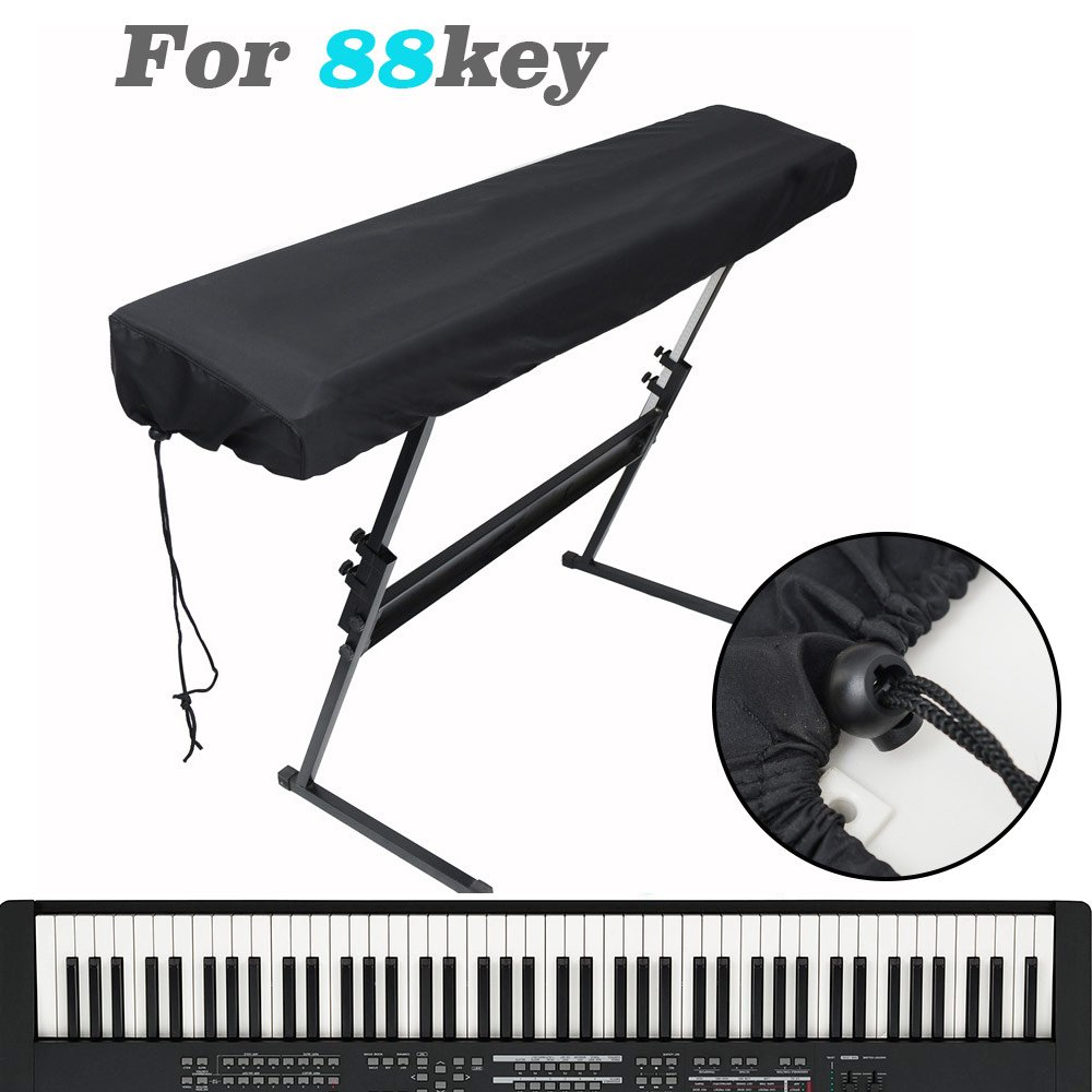 LANIAKEA Electric Digital Piano Keyboard Cover, Universal Dust Proof Keys Board Protective, Perfect for Yamaha Williams Casio Roland Kawai (88 Keys), Black SilkRoad Direct