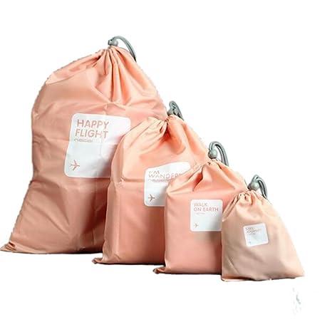 Lote de 4 bolsas impermeables para maquillaje o ropa ...