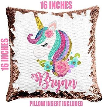 Custom Name,Custom Picture Personalized Pillowcase Kids Room Unicorn Decor Unicorn Pillow