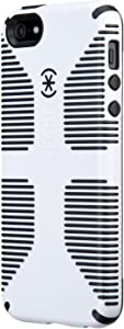 Speck Products CandyShell Grip Case for iPhone SE/5/5S -Retail Packaging- White/Black