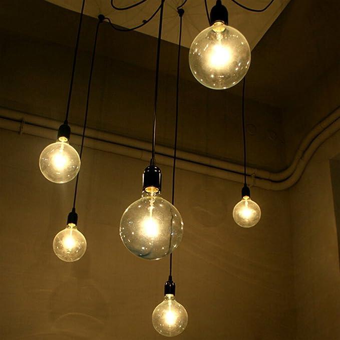 6 pcs Luminaire Suspension Style Européen Moderne IKEA Lampe Pendante & Lampe Plafonnier DIY Installation Facile pour Éclairage Cuisine