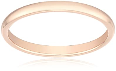 Amazon Com Classic Fit 14k Plain Wedding Band 2mm Jewelry