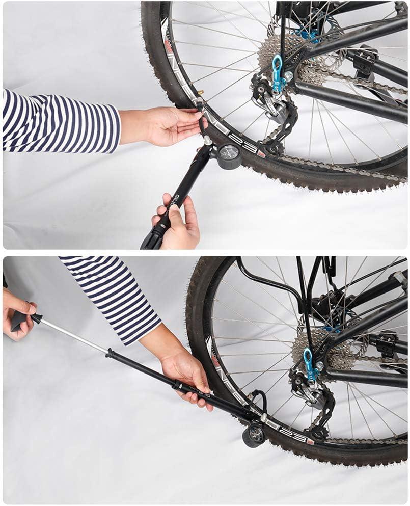 Giyo GS-41 Bike Bicycle Inflate Fork Shock Mini Pump 300 Psi Removable Gauge