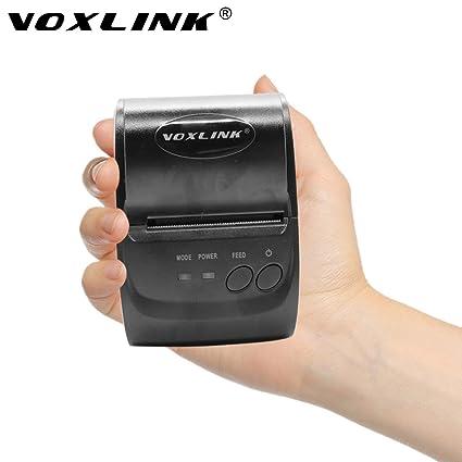 Voxlink Bluetooth impresora térmica de recibos, 58 mm Mini ...