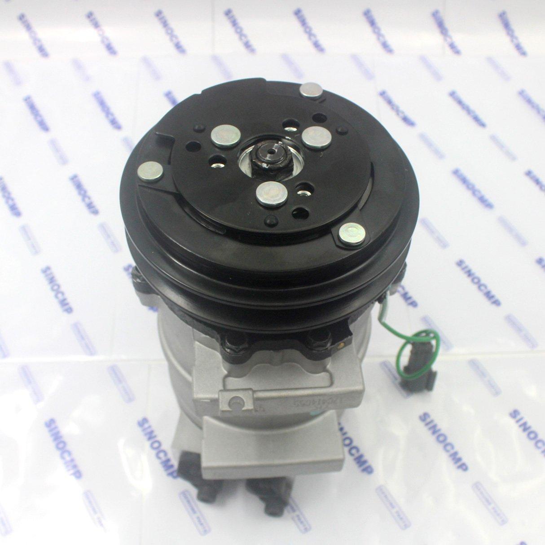Compresor de aire acondicionado SINOCMP Excavator 4425700 - Compresor de aire acondicionado grupo refrigerante para Hitachi ZX-1 ZX60 ZX200 ZX240 piezas de ...