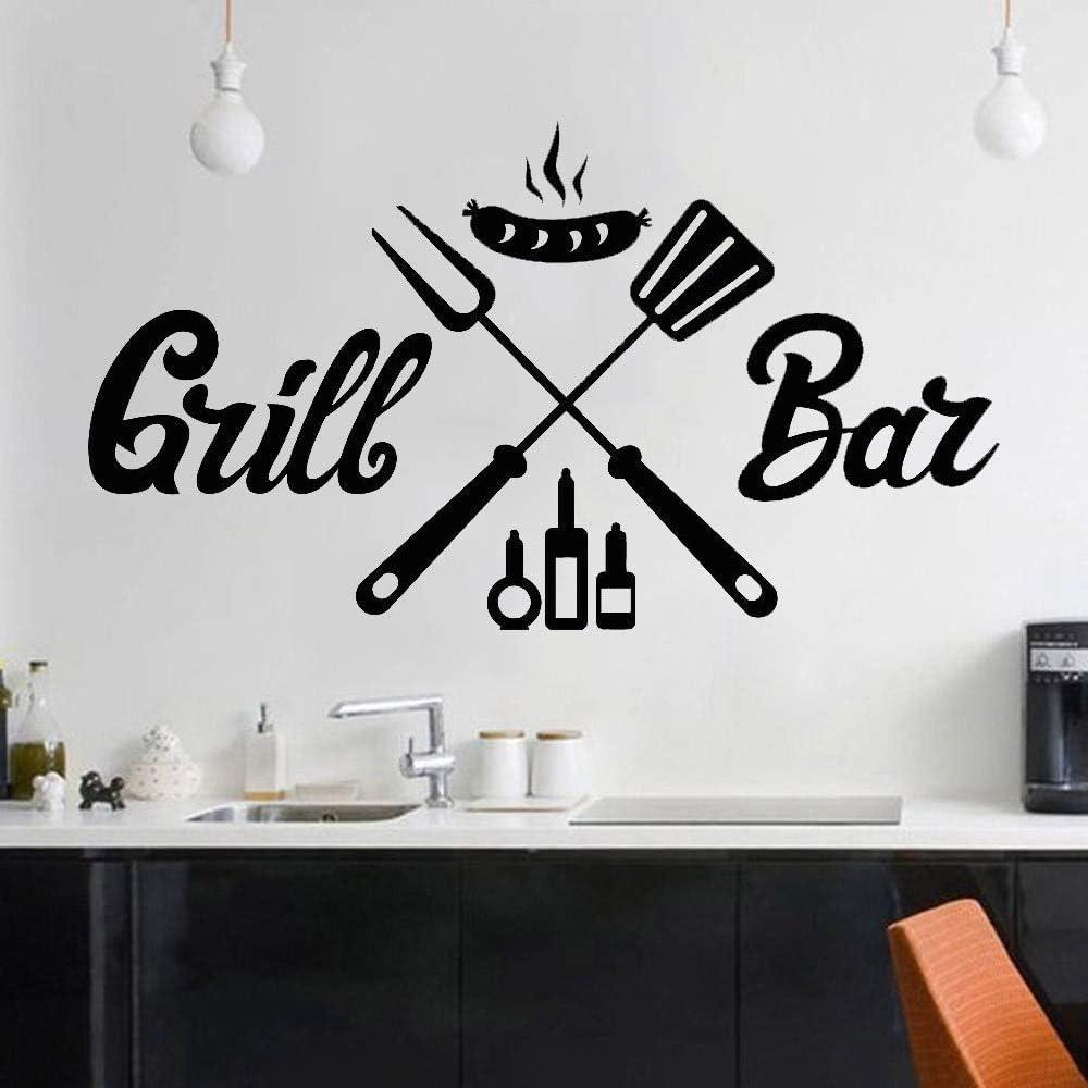 supmsds Grill Bar BBQ Pegatinas de Pared para Comedor Barbacoa ...