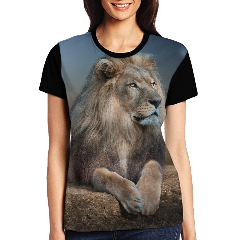 CKS DA WUQ African Lion Women's Raglan T-Shirt Compression Sport Baseball Tees Tops Undershirts by CKS DA WUQ