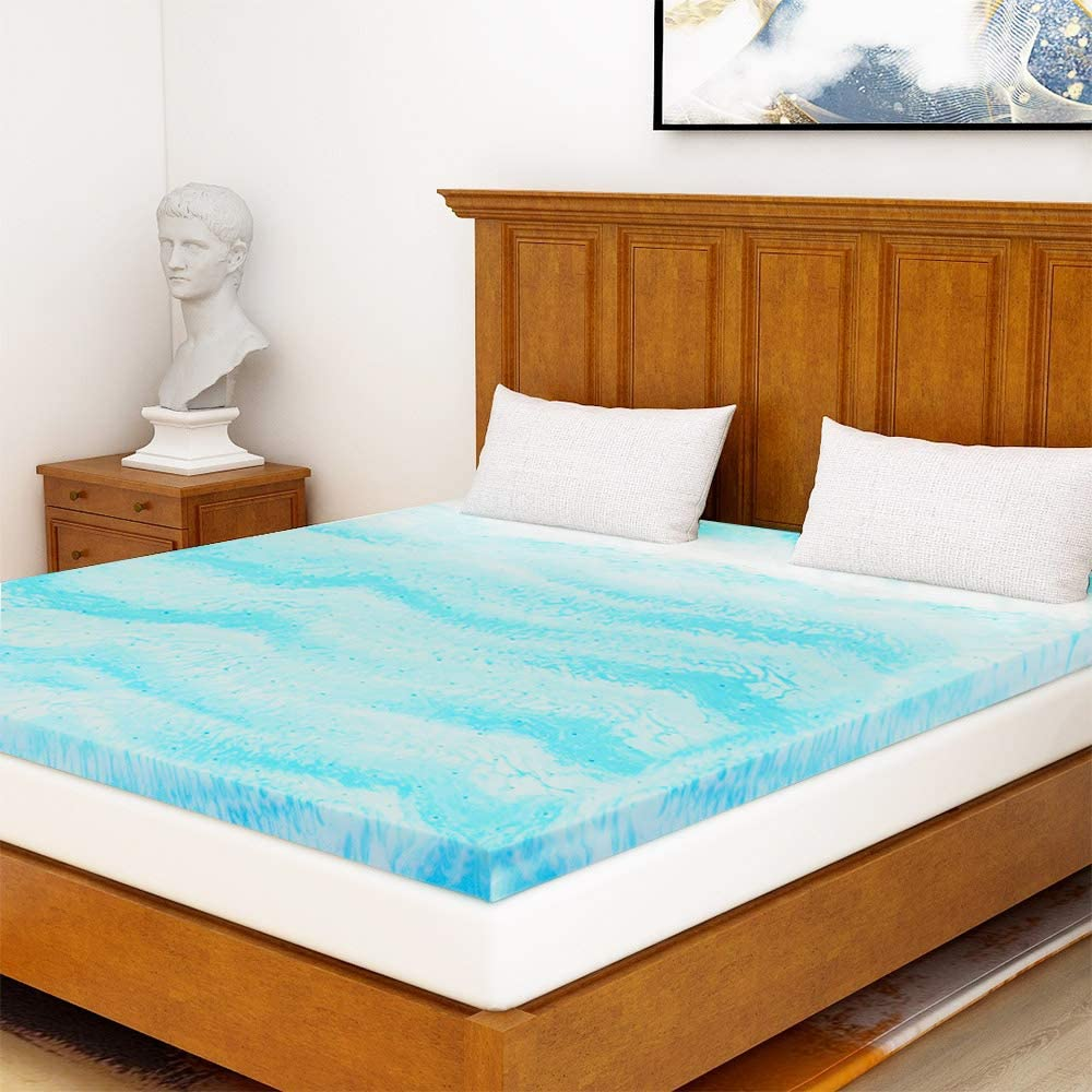 Amazon.com: Milemont Mattress Topper Full, 2 Inch Cool Swirl Gel