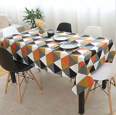 CY&Y Manteles de Lino Modernos y Sencillos para cafés, alfombras ...
