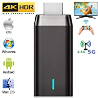 Wireless Display Adapter, LAIDUOAO 4K Wireless HDMI Adapter Miracast Dongle Streaming Media Player Mirroring Screen from Small to Big Screen, Support 2.4G/5G Miracast Airplay DLNA