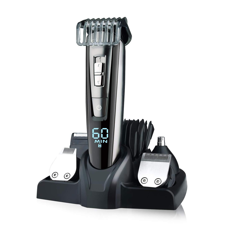 HATTEKER Beard Trimmer Kit For Men Cordless Mustache Trimmer Hair Trimmer Groomer Kit Precision Trimmer Nose Hair Trimmer Waterproof USB Rechargeable 5 In 1 by HATTEKER. (Image #2)