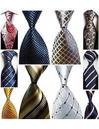 Lot 10 PCS Men's Ties 100% Silk Tie Woven Jacquard Neckties Classic Ties