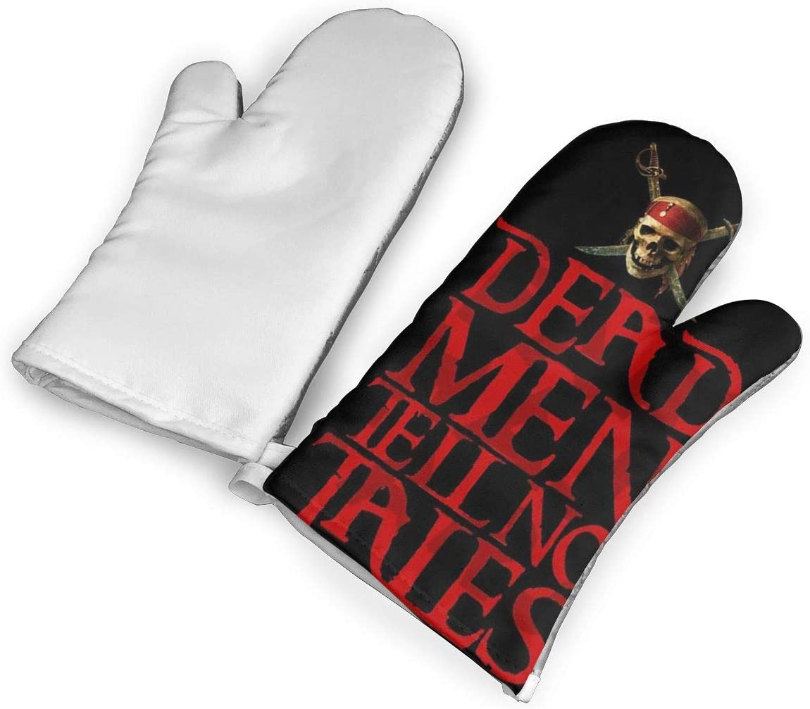 Zuoyoudf82 Pirates of The Caribbean Dead Oven Mitts and Potholders Kitchen Counter Safe Trivet Mats   Advanced Heat Resistant Oven Mitt, Non-Slip Textured Grip Pot Holders