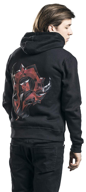 World of Warcraft Horde Shield Kapuzenjacke schwarz