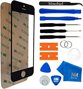 MMOBIEL Front Glass Replacement Compatible with iPhone 5 5C 5S SE (Black) Display Touchscreen incl Tool Kit