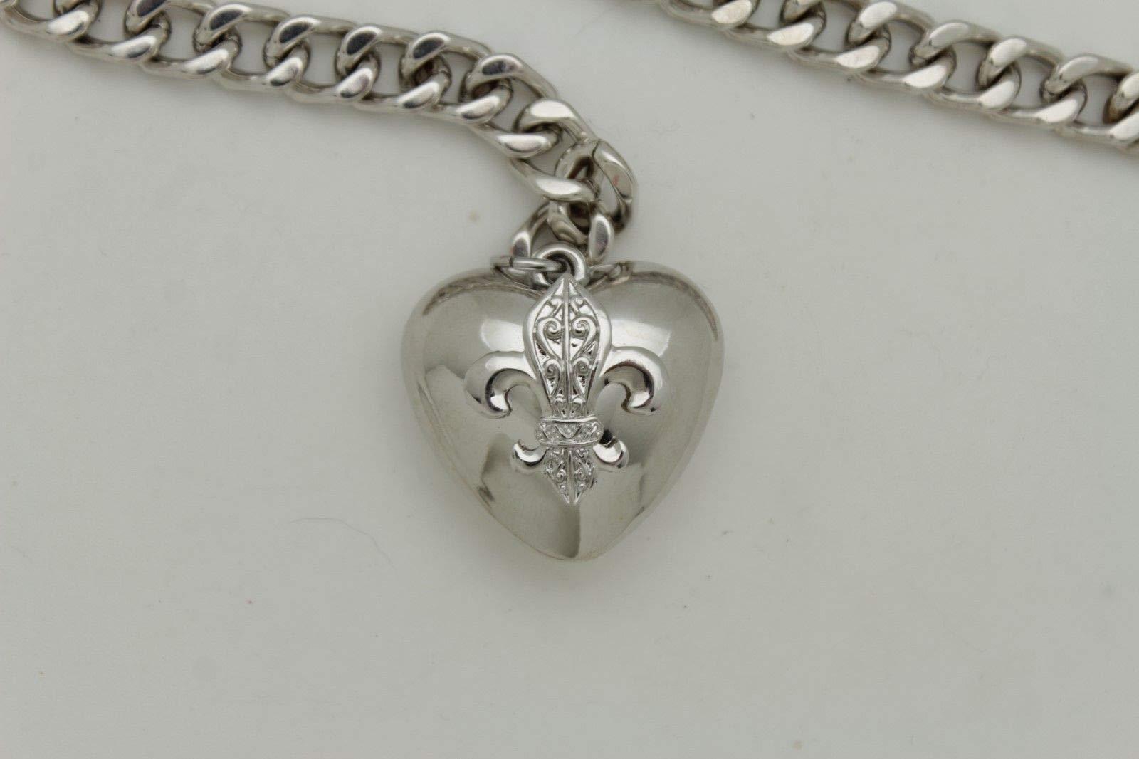 Women Hip Waist Silver Metal Chain Fashion Belt Love Heart Buckle Charm XS S M by RIX Fashion Luxury (Image #9)