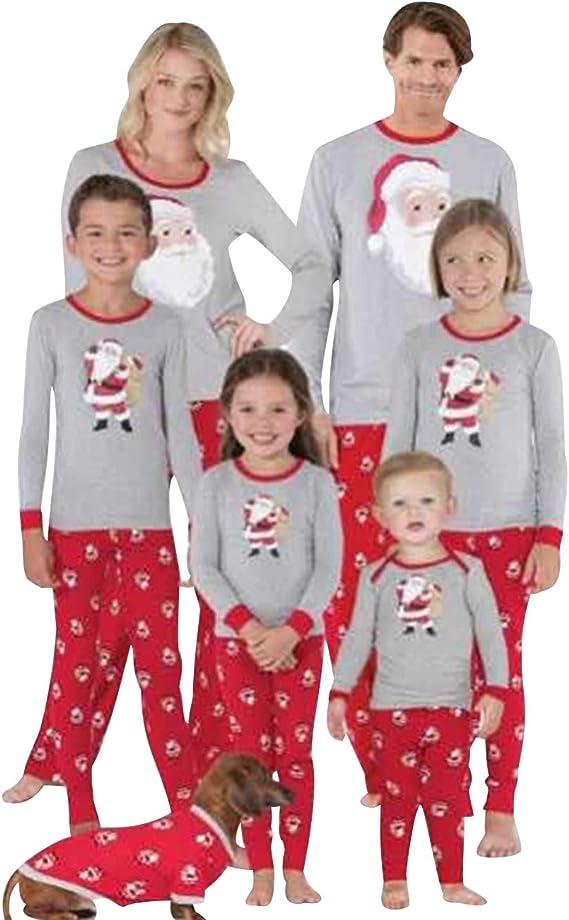 Christmas Kids Baby Boys Girls Xmas Pj/'s Sleepwear Nightwear Pajamas PJS Set