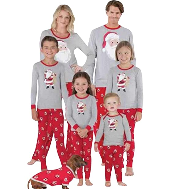 Pijamas Navidad Familia Conjunto Pijama Papa Noel Navideñas ...