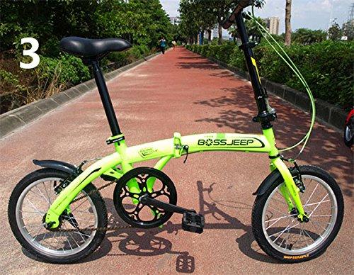 16インチ 折りたたみ自転車 折畳自転車 おりたたみ自転車 MTB おりたたみ自転車W345 B00QA15E9U グリーン グリーン