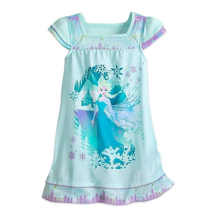 Amazon.com: Disney Elsa camisón para niñas – Frozen: Clothing