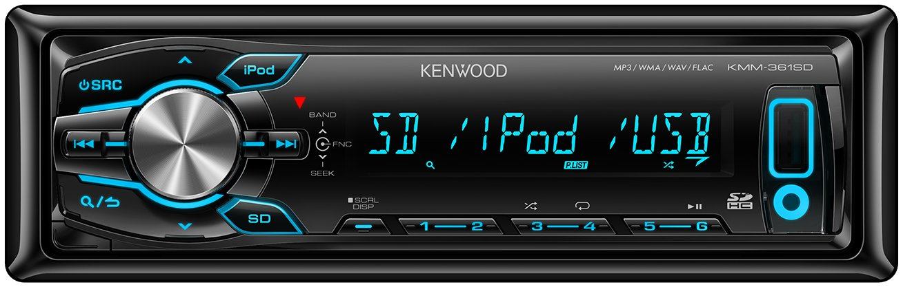 Kenwood KMM-361SD Car Stereo (iPod Control:iPod Plug-In only,)