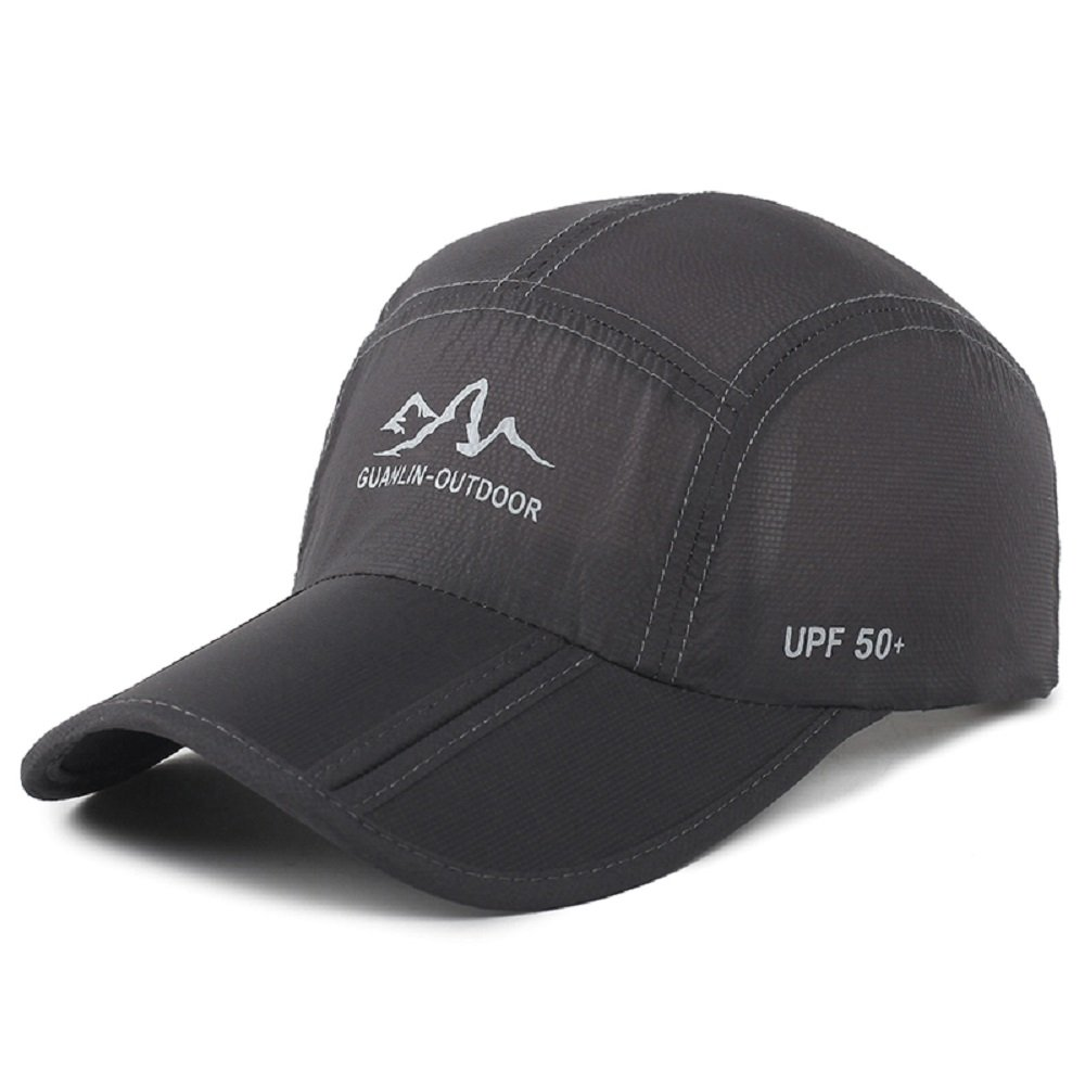Top Dark Horse Baseball Cap Sun Hats Water Resistant Sports Hat Quick Dry UPF 50+ Breathable Outdoor Cap Black