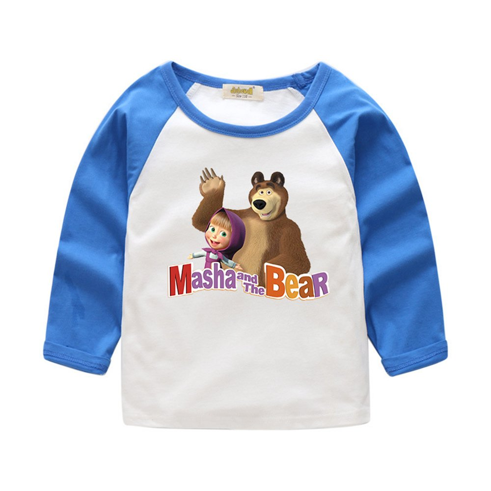 Baby Long Sleeve T-Shirt in Masha and Bear for Boys and Girls in Height 33