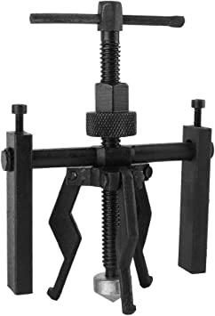 Carbon Steel 3-Jaw Pilot Inner Bearing Puller Tool Kit Heavy Duty Automotive Manual Machine Extractor 3 Jaw Universial Bearing Puller Gear Extractor