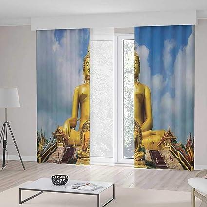 Amazon.com: YOLIYANA Bedroom Curtains,Asian Decor,Living ...