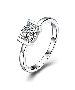 Anillo de compromiso, elegante, de moda, elegante, con diamantes de imitación y joyería romántica para hombres y mujeres, anillo de regalo de boda