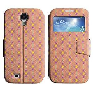 LEOCASE patrón de diamante Funda Carcasa Cuero Tapa Case Para Samsung Galaxy S4 I9500 No.1007418