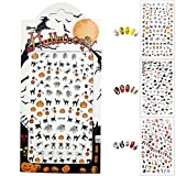 Waker WK-ST01 Halloween Nail Stickers, 3D Nail Tattoo Art Decals Decoration - 3 Sheets