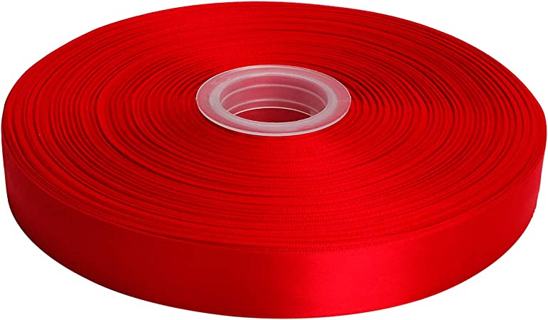 Gift Wrapping Hair Bow Coral 238 Lt LaRibbons 50 Yards 1 Double Face Satin Ribbon for Craft Wedding Deco