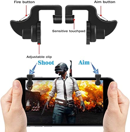 Guangcailun Mobile Phone Shooting Game Assistive Controller Phone Gaming Trigger Gamepad Fire Buttons