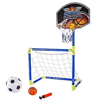 MAJOZ 2 en 1 Juego de Soporte de Baloncesto y fútbol, Juego ...
