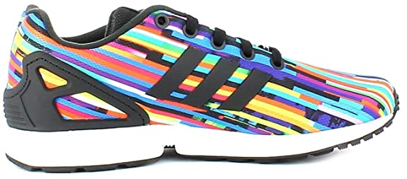 223a1bcf9 adidas Originals ZX Flux J Glitch Graphic Textile Youth Trainers   Amazon.co.uk  Shoes   Bags