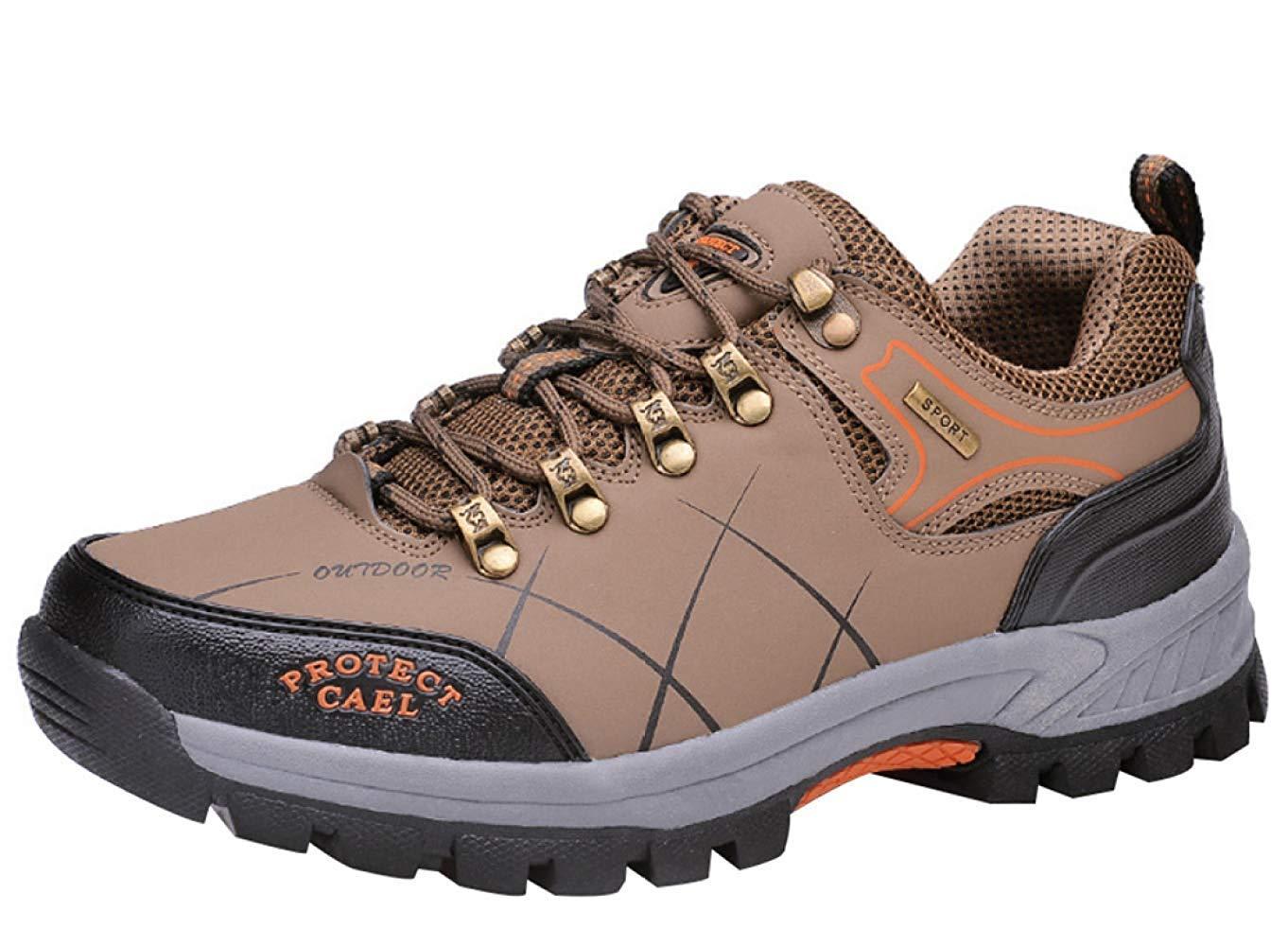 HhGold Männer Wanderschuhe Stiefel Leder Wanderschuhe Turnschuhe Für Outdoor Trekking Training Beiläufige Arbeit (Farbe : 7, Größe : 39EU)