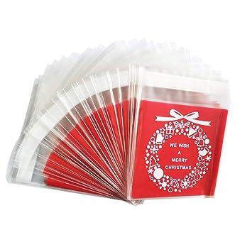 Amazon.com: Bolsas autoadhesivas para galletas de Navidad ...