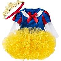 MYRISAM Christmas Costumes for Baby Toddler Girls Snow White Princess Birthday Bodysuit Romper Tutu Dress w/Headband 0…