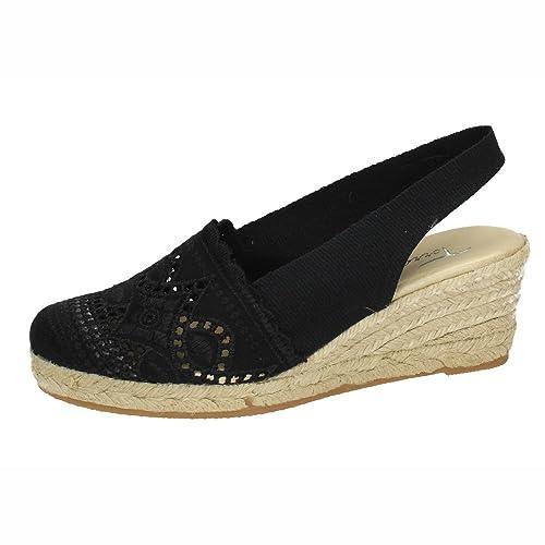 TORRES PELOTARIBANDA1 PELOTARI Banda 1 Mujer Alpargatas Negro 38: Amazon.es: Zapatos y complementos