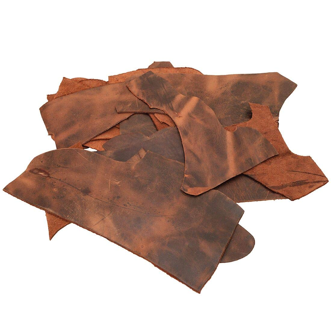 1.8mm Craft /& Workshop :: Old Tobacco Trimming Rustic Pieces 12 Ounce Cow Leather Chips /& Scraps Hide /& Drink