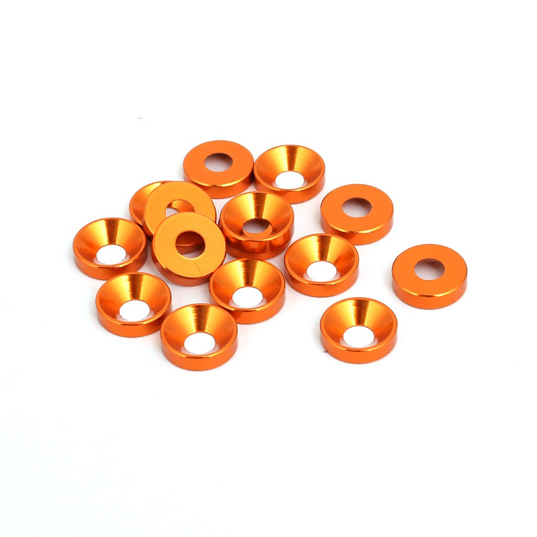 sourcingmap/® 15Stk M4 Aluminium Legierung Tasse Motor Unterlegscheiben Sto/ßstange Orange DE de