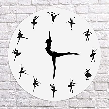 Dastrues Ballerina Record Horloge Murale Ballet Dancing Horloge Murale Dansant d/écoration pour la Maison
