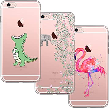 3 Pack] Funda iPhone 6, Funda iPhone 6S, Blossom01 Funda Ultra Suave Silicona TPU Funda de Silicona con Dibujos Animados para iPhone 6 / 6S: Amazon.es: Electrónica