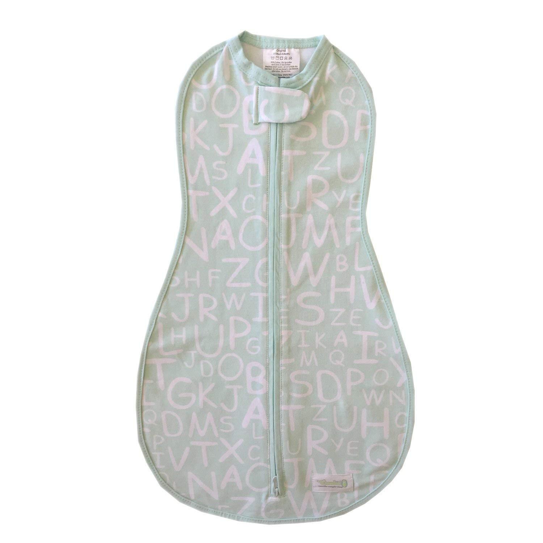 Navy Stripe Blue, 5-13 lbs Woombie Original Nursery Swaddling Blanket for Babies up to 3 Months