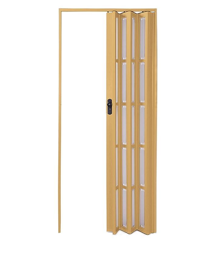 Ondis24 Falttür Ayto Universal Schiebetür bis 84 cm Breite /& 205 cm Höhe braun