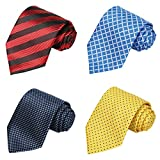 KissTies 4 pcs Extra long Ties 63'' XL Necktie for Father + 1 Magnetic Boxes