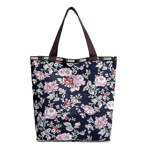 Beutel Tragetaschen Schultertasche Handtaschen Umhängetasche Damen Frauen Blume
