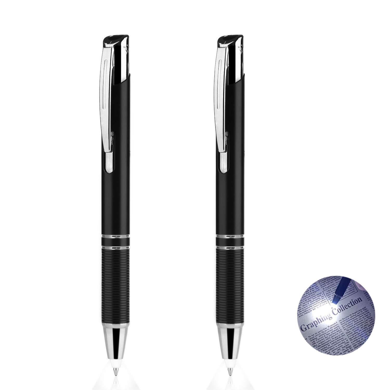 LED Penlight Light Up Ballpoint Writing inDark 1 Pack-White Lighted Tip Pen